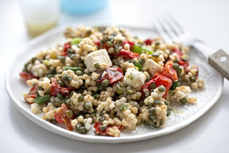 Čočkový salát s vůní řecké kuchyně
